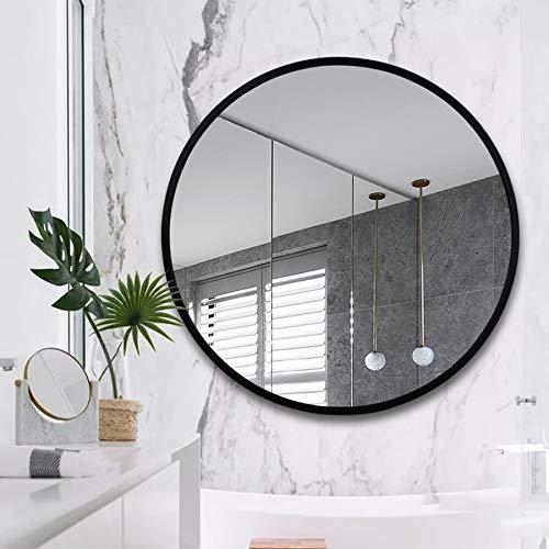 60//70 cm Nord Europa Tondo Montaggio a Parete Specchiera Telaio in Lega di Alluminio HD A Prova di Esplosione Specchio del lavandino Bathroom mirror Specchio da Bagno /Ø50