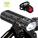 Best Bicycle Lights 1200 Lumens Rechargeables - Nestling 1200 Lumen Rechargeable Bike Lights Front Review