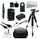 SSE 8GB Necessity Accessory Bundle for Nikon D7000 D7100 D7200 SLR Digital Camera which Includes: Wireless Remote, 8GB Memory Card, High Speed Card Reader, Mini HDMI Cable, Extended Life Replacement Battery, Rapid Travel Charger, Carrying Case, Tripod, Carrying Case, Tripod + More