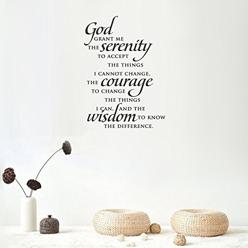 peics Vinyl Removable Wall Stickers Mural Decal Art Serenity Prayer Wall Quote Decal