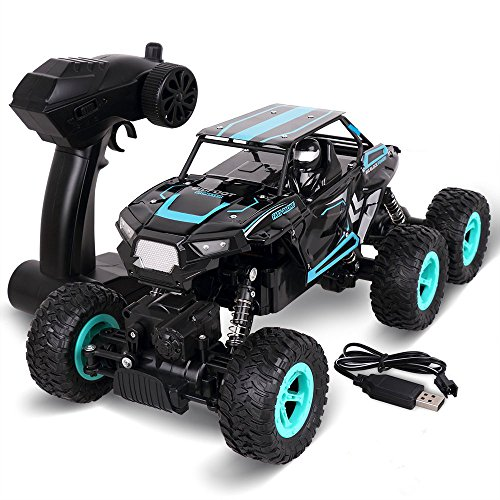 KINGBOT RC Cars, 1:14 Scale 6WD 2.4Ghz High Speed 20km/h Electric Remote Control Off Road Monster Trucks RC Buggy Cars with Dual Rear Wheels (6WD)