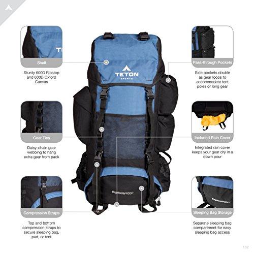 d7dc7515a9 TETON Sports Explorer 4000 Internal Frame Backpack  High-Performance  Backpack for Backpacking