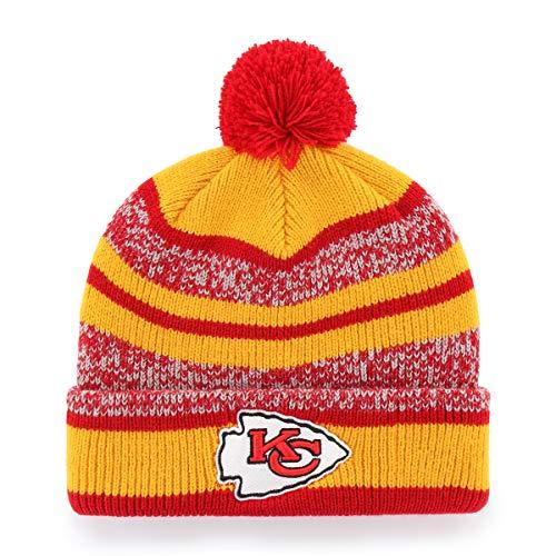 f17c7820c1540 kc caps headwear. NFL Kansas City Chiefs Huset OTS Cuff Knit Cap with Pom