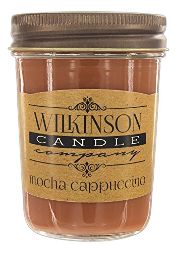 Wilkinson Candle Co. Small 8 Ounce Jam Jar Soy-Lotion Candle (Mocha Cappuccino)