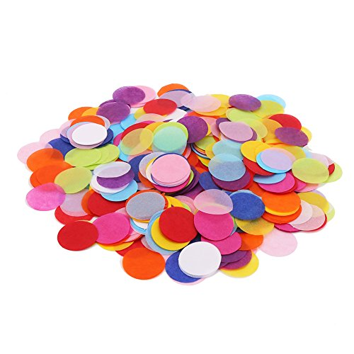 DECORA 10000 Pieces 1.2inch Circle Confetti Wedding Sprinkles Tissue Paper Confetti Boda Birthday Party Table Decoration Pinata Fillers