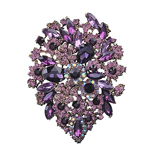 Purple Rhinestone Pin - 6