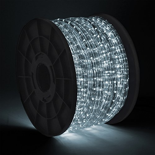 Onebigoutlet 300' FEET, (COOL WHITE) Holiday WaterProof LED Rope Light by Onebigoutlet