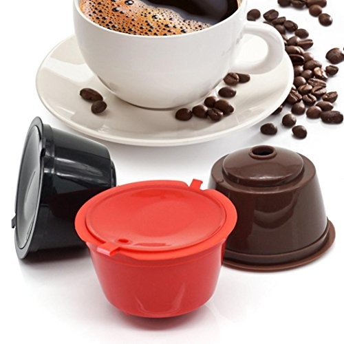 Vanvler 1pc Sweet Taste Coffee Capsule Filter Plastic Rechargeable Coffee Capsules - Food Conditioning Fall