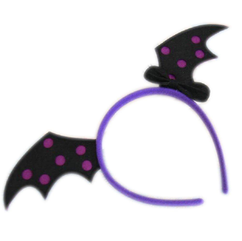 Cosanter 1pcs Diadema de Bat de Halloween para Adulto y Niño para Halloween Accesorios de Decoración del Partido (Morado)