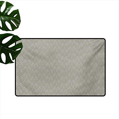 (Custom Pattern Floor mat,Italian Style Rich Flower Motifs Vintage Antique Effects Artistic Ornamental Swirls Dots 20