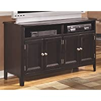 Signature Design by Ashley W371-28 Carlyle Collection TV Stand, 50, Almost Black