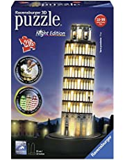 Ravensburger 12515 3D-Puzzle Schiefer Turm bei Nacht