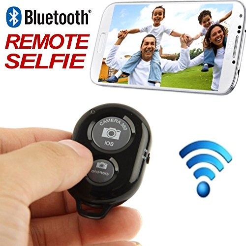 AccessoryBasics Bluetooth Wireless Camera Shutter Release Remote Control for iPhone 7 6S Plus iPad Pro/Air/Mini Samsung Galaxy S8 S7 Edge Smartphone & Tablets (Free Jello Case & Wrist Lanyard) from Accessory Basics