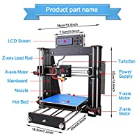 3D Printer I3 High Precision Large Size Desktop 3D Printer Kit Reprap Prusa I3 DIY Self-Assembly LCD Screen PLA/ABS Filament 1.75MM DIY 3D Printer Kit from Fused3D