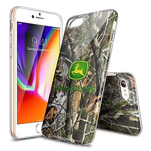 Phone Case for iPhone 7/8,Ultra Slim Clear TPU Shockproof and Anti-Scratch Case Cover- Customizable Patterns [LZX201904220] (Phone Case Deere 5 John I)