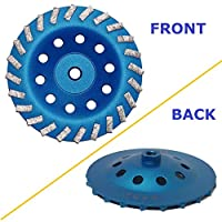 """7"""" Concrete Turbo Diamond Grinding Cup Wheel for Angle Grinder 5/8"""" 11 Thread Mount"""