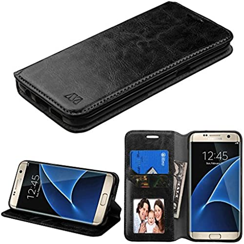 Galaxy S7 Case, TJS Hybrid PU Leather Drop Protection Folding Wallet Slots to Hold Cards Stand Pouch Case For Sales