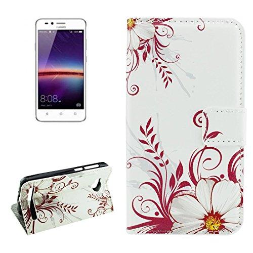 Mobile Phone Cases&decorate Para Huawei Y3 II flor brotes patrón horizontal Flip caja de cuero con el titular y ranuras para tarjetas y cartera ( SKU : Mlc0985a ) Mlc0985c