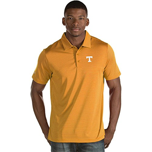 - Antigua MEN'S TENNESSEE VOLUNTEERS QUEST STRIPE JERSEY SHORT SLEEVE POLO SHIRT TENNESSEE ORANGE/WHITE XL
