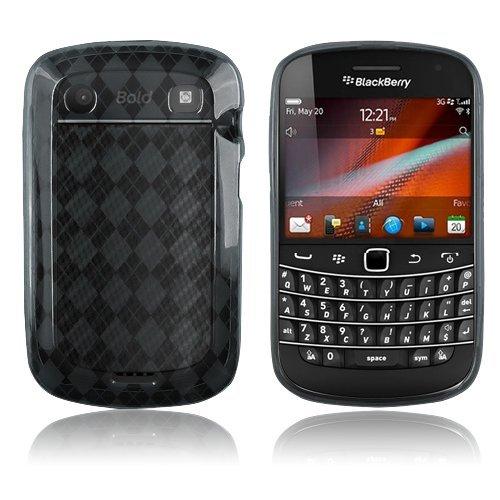 BlackBerry Bold Touch 9900/9930 - Smoke Checker Argyle Transparent TPU Skin [AccessoryOne -