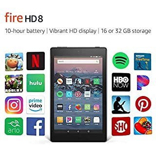 "Certified Refurbished Fire HD 8 Tablet (8"" HD Display, 32 GB) - Black with Show Mode Charging Dock"