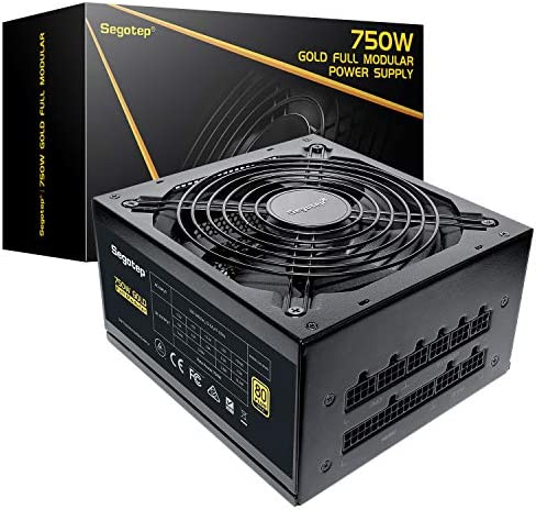 Segotep 750W Fully Modular ATX Black Power Supply 80 Plus Gold Certified