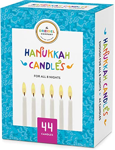 The Dreidel Company 44 White Hanukkah Candles For All 8 Nights of Chanukah (1)