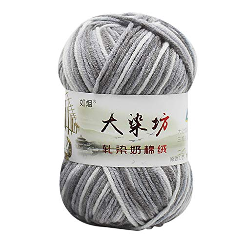 MChoice❤️1PC 50g Chunky Colorful Hand Knitting Baby Milk Cotton Crochet Knitwear Wool (G)