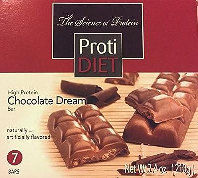ProtiDiet High Protein Chocolate Dream Bar - 7 servings per box - 10 grams protein per serving