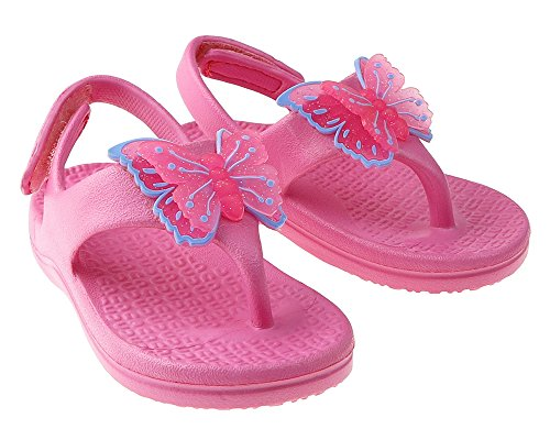 Capelli New York Baby Girls Injected Butterfly Sandal With Back Strap Pink 6/7