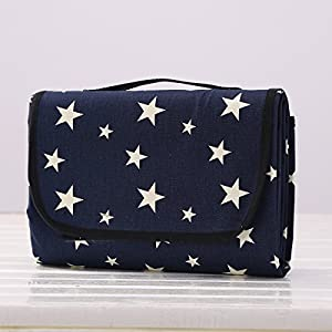 SewForever, Multi Functional Picnic Blanket Outdoor Camping Rug Beach Mat  Travel Play Mat, Blue Star