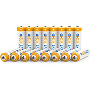 SunLabz Rechargeable Batteries, Ultra-Efficient NiCD AA (16 Pack)