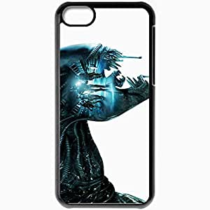 Personalized iPhone 5C Cell phone Case/Cover Skin Aliens Colonial Marines Foreign Ksenomorfov Aliens Monster Teeth Black