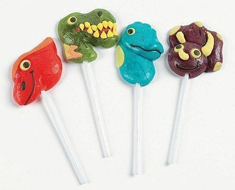 Frosted Dino-Mite Lollipop Suckers Pack of 12 -