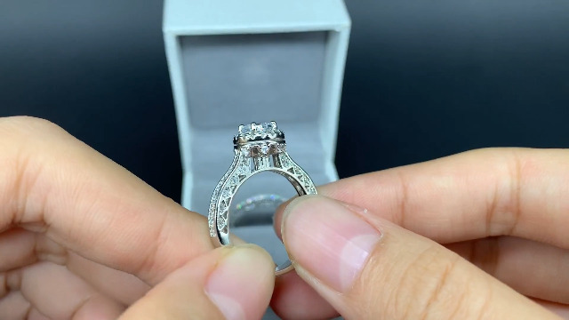 Newshe Wedding Rings for Women Engagement Ring Set 925 Sterling Silver 2.4Ct Round White AAA Cz Size 5-12 7