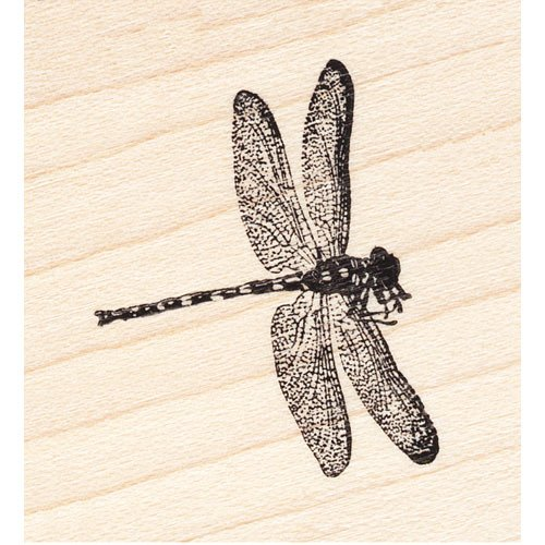 Soaring Dragonfly Rubber Stamp