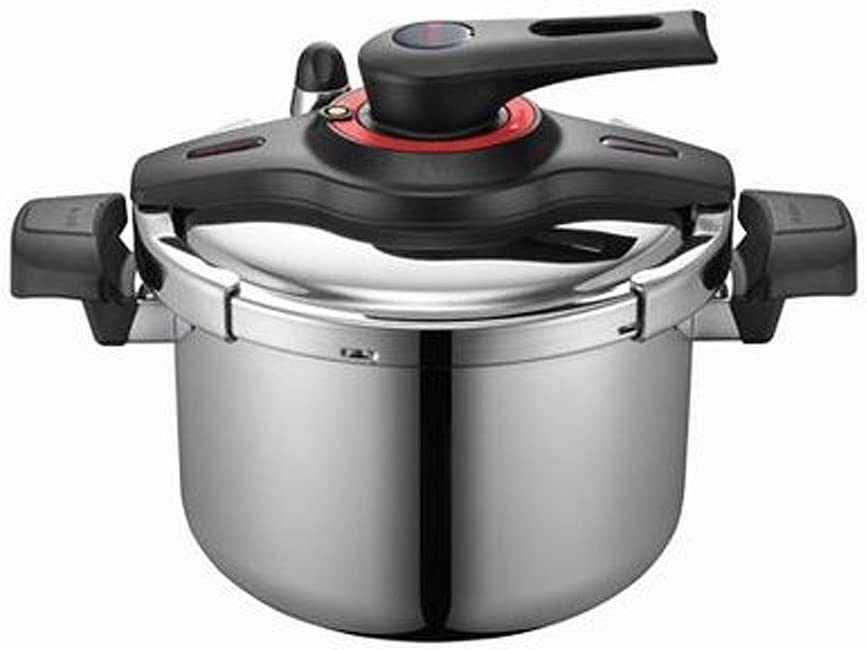 Poongnyun Vtgpc-10-Stainless Steel Pressure Cooker 5.5L 10serving (Silver)