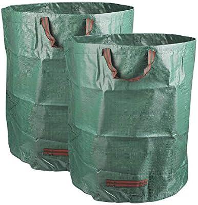 YOTIN Juego de 2 Bolsas de jardín, Bolsa de Basura de jardín de 272 L Hecha de Resistente Resistente y Plegable.: Amazon.es: Jardín