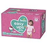 Pampers Easy Ups Pull On Disposable Potty Training Underwear for Girls, Size 4 (2T-3T), 132 Count, Enormous Pack