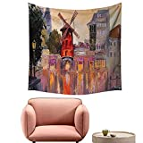 alsohome Bedroom Tapestry Tapestry Wall Hanging for Bedroom Pa T Moul Rouge Paris