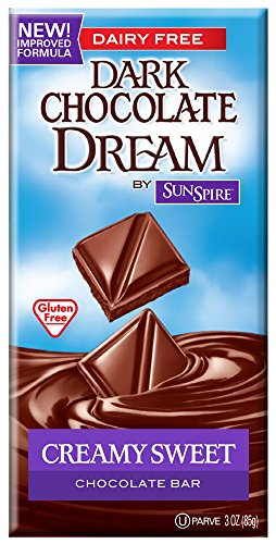 SunSpire Dream Milk Chocolate Bar, Creamy Sweet, 3 Ounce (Pack of - Candy Free Dairy