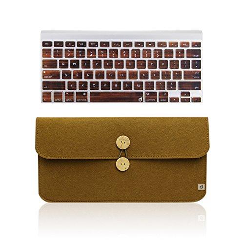 Masino 2 in 1 Felt Keyboard Sleeve Case Bag+Silicone Keyboar