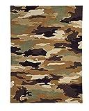 Dynamic Rugs FA351709600 Fantasia 1709-600 Rug, 3' by 5', Army