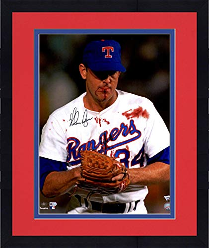 Framed Nolan Ryan Texas Rangers Autographed 16