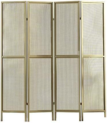 EVEN Panel de privacidad de rejilla metálica decorativa Cercado de metal, pantalla de panel de particiones de divisor de habitación, pantalla de divisor de habitación con 4 paneles plegables: Amazon.es: Hogar