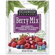 Stoneridge Orchards Whole Dried Berry Mix 5 oz (6 Pack) - Cranberries, Montmorency Cherries, Blueberries, Strawberries, Raspberries