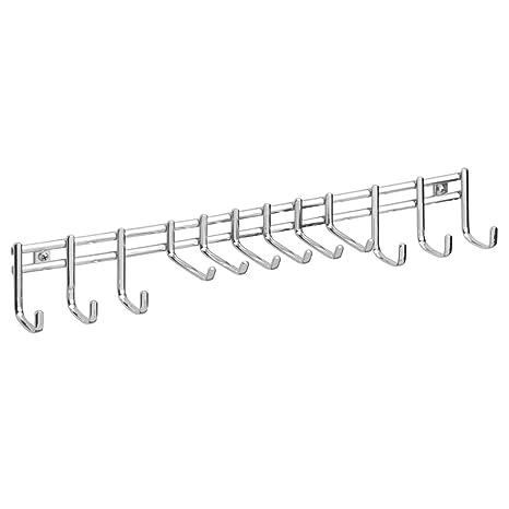 InterDesign Perchero de Pared para Corbatas/Cinturones, Color Cromo
