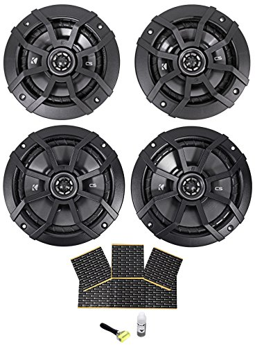 "(2) Kicker 40CS654 6.5""+(2) Kicker 40CS54 CS5 5.25"" Car Audio Speakers + Rockmat"