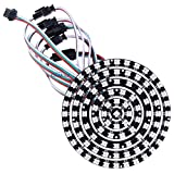 CHINLY 93 LEDs 6 Ring WS2812B WS2812 5050 RGB LED Ring Lamp Light Individually Addressable Full Dream Color DC5V