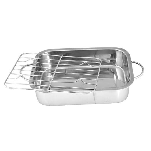 3 opinioni per Kosma–Casseruola in acciaio inox, Teglia da forno con griglia, teglia, teglia,
